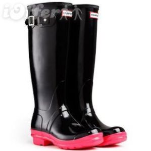 2012-new-hunter-rain-boots-shiny-black-with-pink-soles-c359