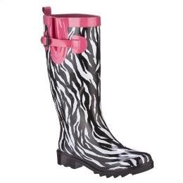 Zebra-print-rain-boots